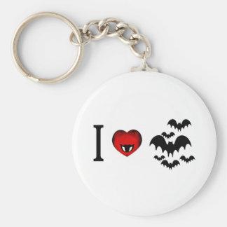 I Love Vampire Bats Keychain