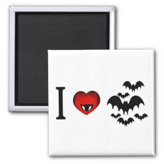 I Love Vampire Bats Magnets