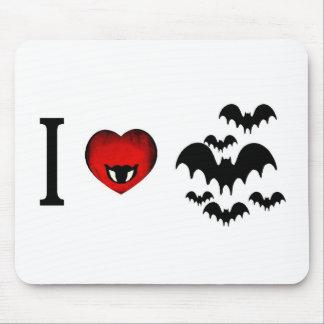 I Love Vampire Bats Mouse Pad