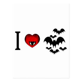 I Love Vampire Bats Postcard