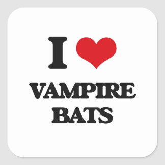 I love Vampire Bats Sticker