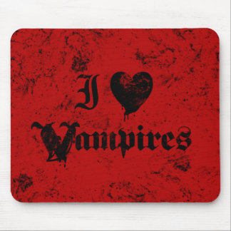 I Love Vampires Mouse Pad