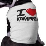 I love Vampires Pet T-shirt