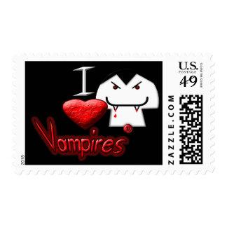 I Love Vampires Postage Stamp