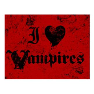 I Love Vampires Postcard