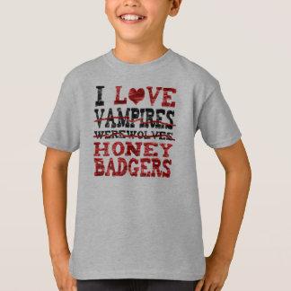 I love vampires werewolves  honey badger T-Shirt