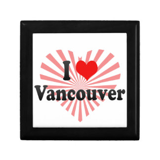 I Love Vancouver Canada Trinket Boxes