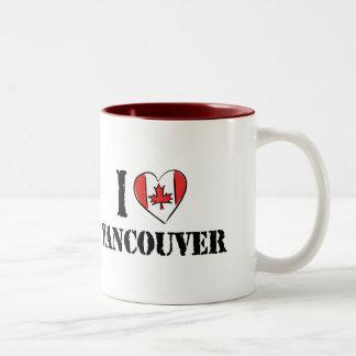 I Love Vancouver Canada Two-Tone Coffee Mug