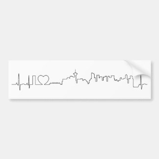 I love Vancouver in an extraordinary ecg style Bumper Sticker