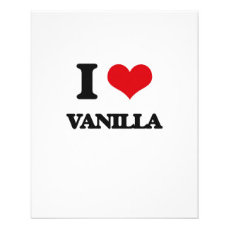 "I love Vanilla 4.5"" X 5.6"" Flyer"