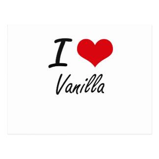 I love Vanilla Postcard