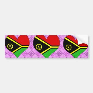 I Love Vanuatu Car Bumper Sticker