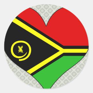 I Love Vanuatu Round Stickers