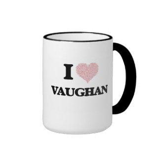 I Love Vaughan Ringer Coffee Mug