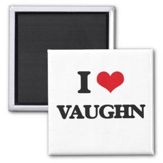 I Love Vaughn 2 Inch Square Magnet