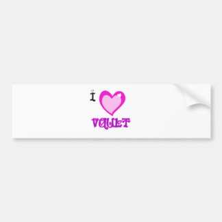 I LOVE Vault Bumper Sticker