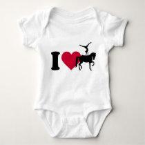 I love Vaulting horse Baby Bodysuit