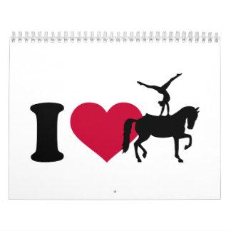 I love Vaulting horse Calendar