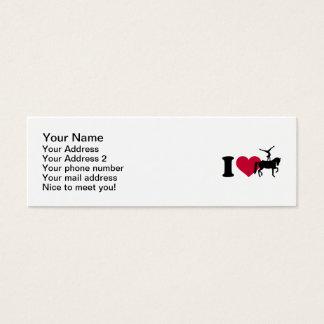I love Vaulting horse Mini Business Card