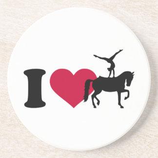 I love Vaulting horse Sandstone Coaster