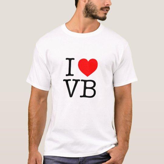 I Love Vb Virginia Beach T Shirt