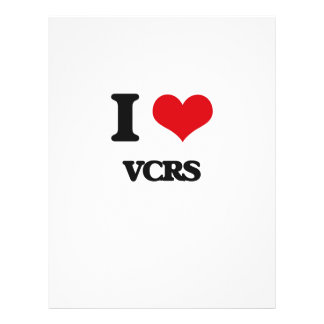 """I love Vcrs 8.5"""" X 11"""" Flyer"""