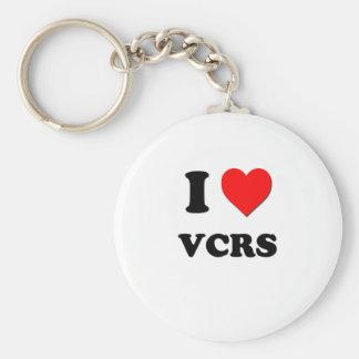 I love Vcrs Basic Round Button Keychain