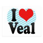 I Love Veal Postcards