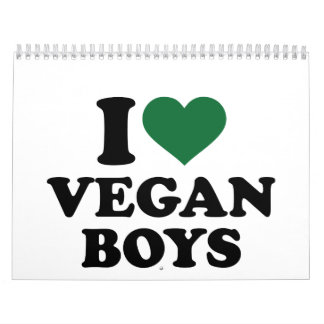 I love vegan boys calendar