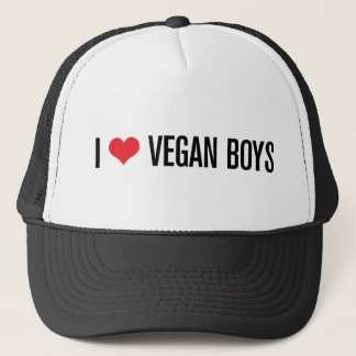 I Love Vegan Boys Trucker Hat