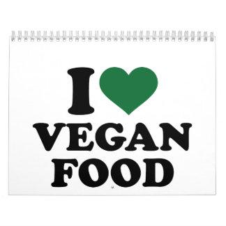 I love vegan food calendar