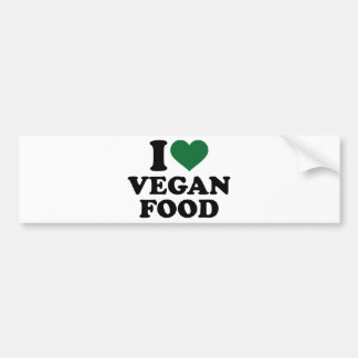 I love vegan food car bumper sticker