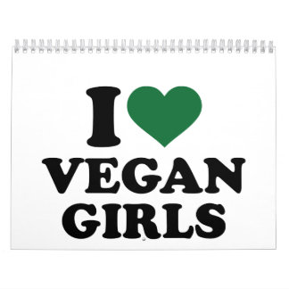 I love vegan girls calendar
