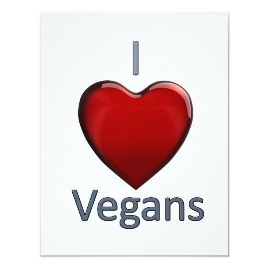 I Love Vegans Card
