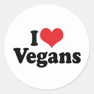 I Love Vegans Round Sticker