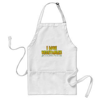 I love vegetables adult apron