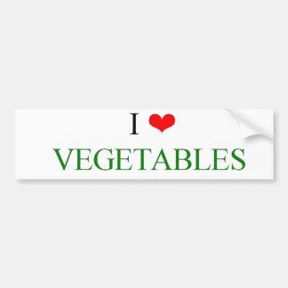 I love vegetables bumper sticker