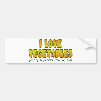 I love vegetables bumper sticker