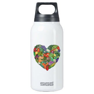 I Love Vegetables Insulated Water Bottle
