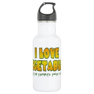 I love vegetables stainless steel water bottle