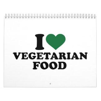 I love vegetarian food calendar