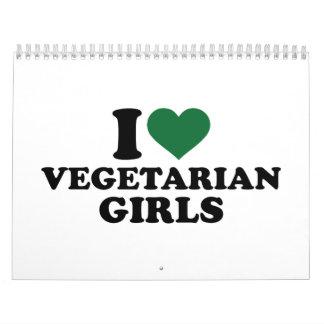 I love vegetarian girls calendar
