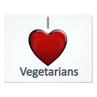 I Love Vegetarians 4.25x5.5 Paper Invitation Card