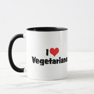 I Love Vegetarians Mug
