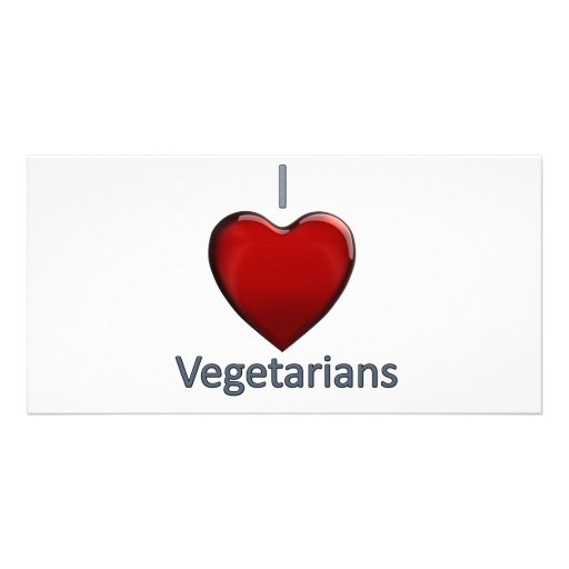 I Love Vegetarians Photo Card Template