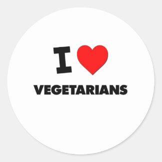 I love Vegetarians Sticker
