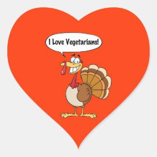 I Love Vegetarians Stickers