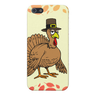 I Love Vegetarians Thanksgiving Cartoon Turkey iPhone 5 Cover