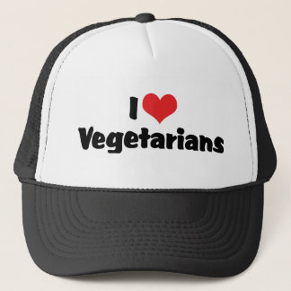 I Love Vegetarians Trucker Hat
