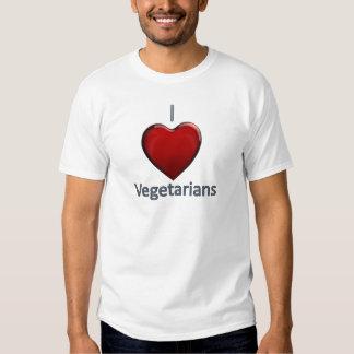 I Love Vegetarians Tshirts